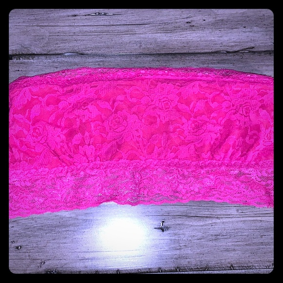 Hot pink lace bandeau!